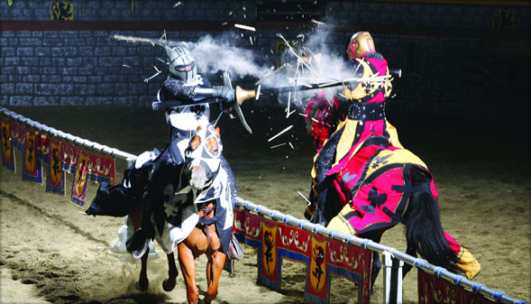 At Medieval Times, armor-clad knights clash for the title of King's Champion in front of a wide-eyed audience that fills the battlefield with cheers and jeers between bites of a four-course kampmataga.ga: $