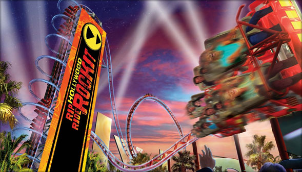 Hollywood Rip Ride Rockit Rollercoaster